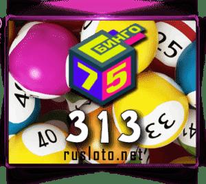 Бинго 75 - Тираж 313